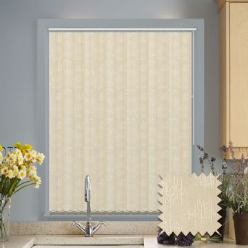 Vertical blinds - Made to Measure vertical blind in Kira Cream